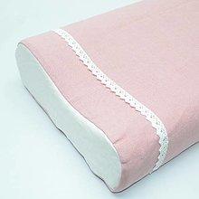Úžitkový textil - ružová ľanová - obliečka na anatomický vankúš - 13299940_