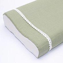 Úžitkový textil - zelená ľanová - obliečka na anatomický vankúš - 13302424_