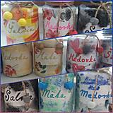 Nádoby - Malé bylinkové dózy (Pestrofarebná) - 13303257_