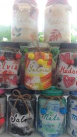 Nádoby - Malé bylinkové dózy (Pestrofarebná) - 13303262_