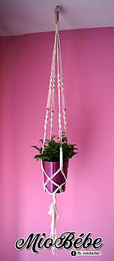Dekorácie - Makramé kvetináč - zlata gulička - 13303218_