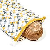Úžitkový textil - Vrecko na chleba s membránou - Cik Cak - 13300409_