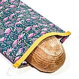 Úžitkový textil - Vrecko na chleba s membránou - Plameniaky - 13300432_