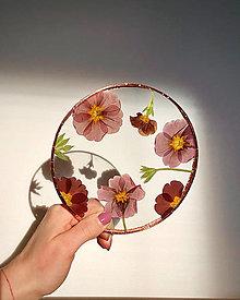 Dekorácie - Závesné dekorácie so sušenými kvetmi - 13301564_
