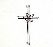 Tabuľky - tepaný krížik *18,5cm - 13300280_