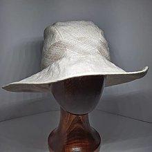 Čiapky - Ľanový klobúk - 13302177_