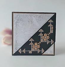 Papiernictvo - Smútočná/kondolenčná pohľadnica VIII - vyšívaná - 13300538_