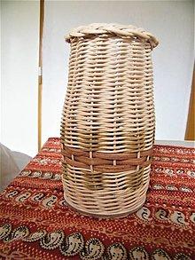 Dekorácie - Váza - obal na sklenenú fľašu 1 - 13300403_