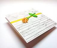Papiernictvo - Pohľadnica ... ružička moja - 13306159_
