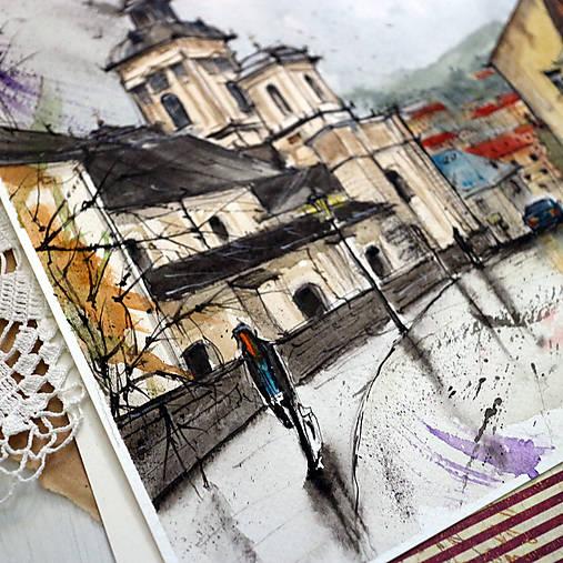 Pekné miesto VII./ akvarelový originál by Richie Bumpkin