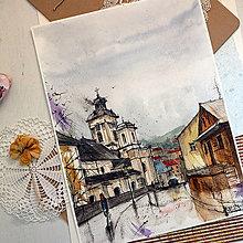 Kresby - Pekné miesto VII./ akvarelový originál by Richie Bumpkin - 13304840_