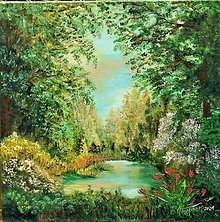 Obrazy - Lesná tôňa - 13303521_