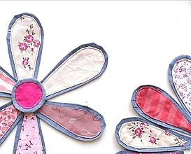 Materiál ručne robený - Kvet s priemerom 30 cm ružový - 13304806_