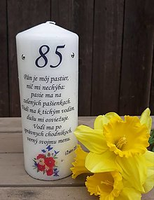 Svietidlá a sviečky - Narodeninová sviečka 20 cm - 13306404_