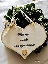 Tabuľky - Srdiečko pre mamičku - 13304290_