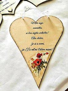Tabuľky - Srdiečko pre mamu - 13304305_
