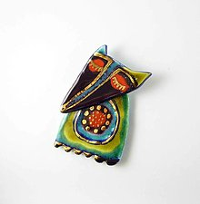 Odznaky/Brošne - Tana šperky - keramika/zlato - 13304897_
