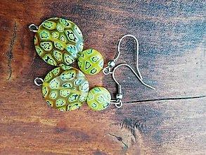 Náušnice - Náušničky ku dňu matiek zeleno žlté - 13305880_