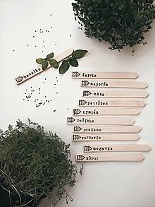 Dekorácie - Zápichy na bylinky - 13306145_