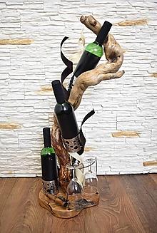 Dekorácie - Dekorácia - stojan na víno 3 - 13306174_