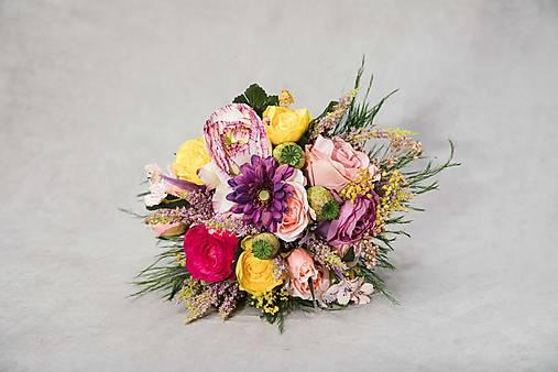 """Svadobná/dekoračná kytička """"zblázniť sa dokonale"""""""