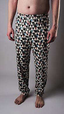 Oblečenie - Love triangle pánske pyžamové nohavice - 13306546_