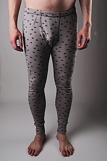 Oblečenie - Pánske spodky šedé - biobavlna - 13306588_