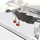 Náhrdelníky - Kvetový púčik zlatý náhrdelník - pink - 13304660_