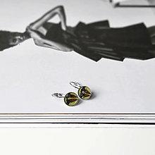 Náušnice - Lúčne kvety strieborné náušnice - 13304575_