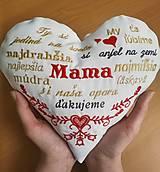 Dekorácie - Srdiečko pre mamičku - 13306406_
