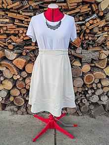 Sukne - Bavlnená sukňa - 3D ruže - 13305387_