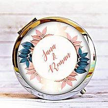 Zrkadielka - zrkadielko Listy, ružová, petrolejová - 13304289_