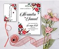 Svadobné oznámenie 93 burgundy