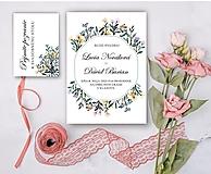 Papiernictvo - Svadobné oznámenie 95 lúky - 13309669_