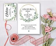 Papiernictvo - Svadobné oznámenie 96 eukalyptus - 13309727_