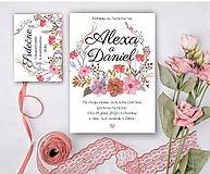 Papiernictvo - Svadobné oznámenie 97 lúčne kvety - 13309737_