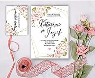 Papiernictvo - Svadobné oznámenie 98 ruže - 13309759_