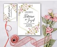 Papiernictvo - Svadobné oznámenie 99 ruže - 13309779_