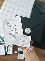 Papiernictvo - Vintage Svadobné oznámenie 100 ruže biele - 13309804_