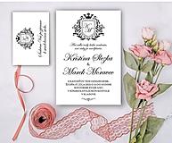 Papiernictvo - Svadobné oznámenie 102 erb - 13309827_