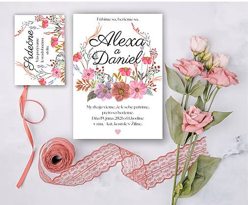 Svadobné oznámenie 97 lúčne kvety