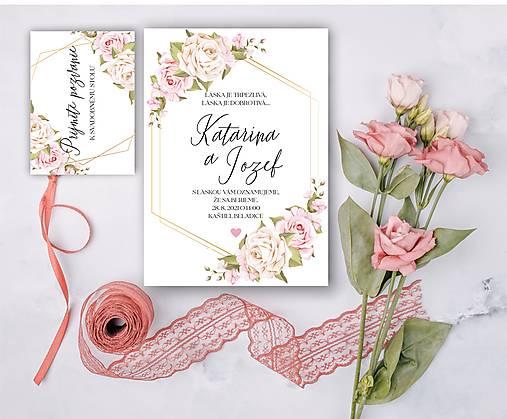 Svadobné oznámenie 99 ruže