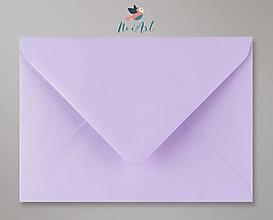 Papier - Obálka bledofialová C6 - 13309790_