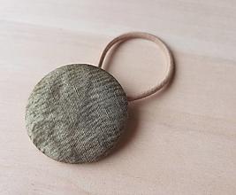 Ozdoby do vlasov - gumička buttonková HADIA KOŽA (vegan verzia ; ) - 13306960_
