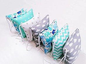 Textil - Vankúšikové mantinely s rúnom - 13306983_