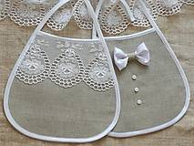 Svadobné podbradníky,bavlna -ľan