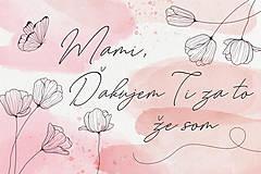 Nezaradené - Ďakovná kartička ku Dňu matiek - 13307345_