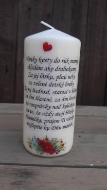 Svietidlá a sviečky - Sviečka - deň matiek - 13310251_