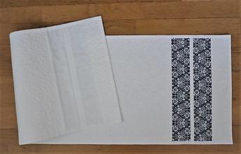 Úžitkový textil - Obrus, štóla na stôl modrotlačová - 13308974_