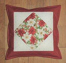 Úžitkový textil - Obliečka na vankúš vianočná - 13309226_